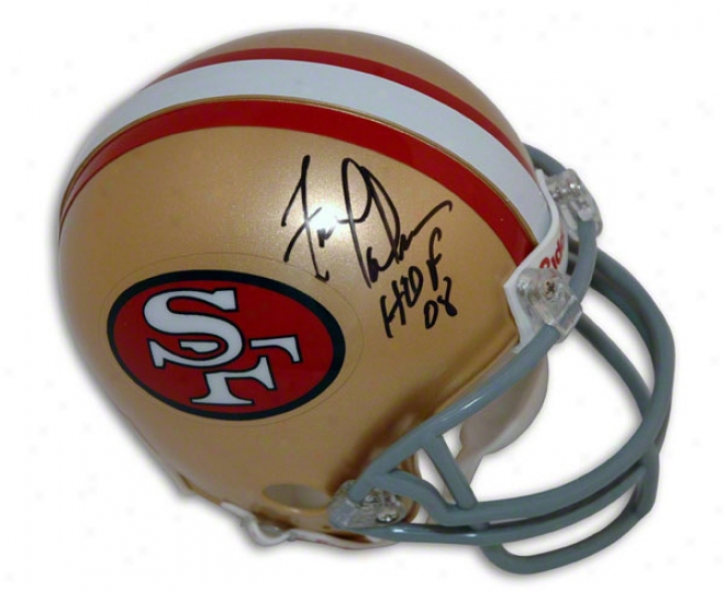 Fred Dean San Francisco 49ers Autographed Mini Helmet With Hof 08 Inscripttion