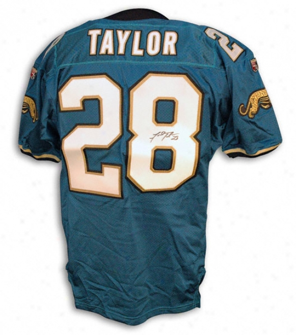 Fred Taylor Autographed Wilson Teal Jersey