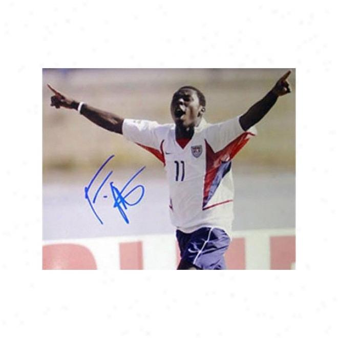 Freddy Adu - Us Team Celebration - 16x20 Autographed Photograph