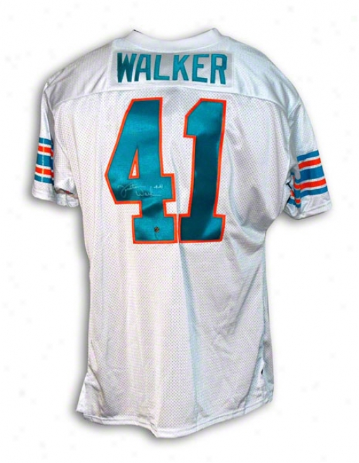 Fulton Walker Autographed Miami Dolphins Thrlwback Jersey