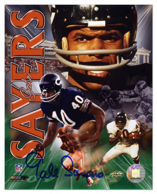 Gaale Sayers Chicago Bears - Collage - Autographed 8x10 Photograph