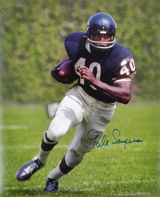 Gale Sayers Chicago Bears - Running - Autographed 16x20 Photograph