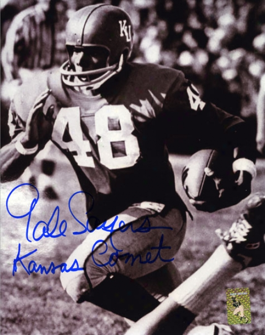 Gale Sayers Kansas Jayhawks Autographed 8x10 Photo W/ Inscriptio &quotkansas Comet&quot