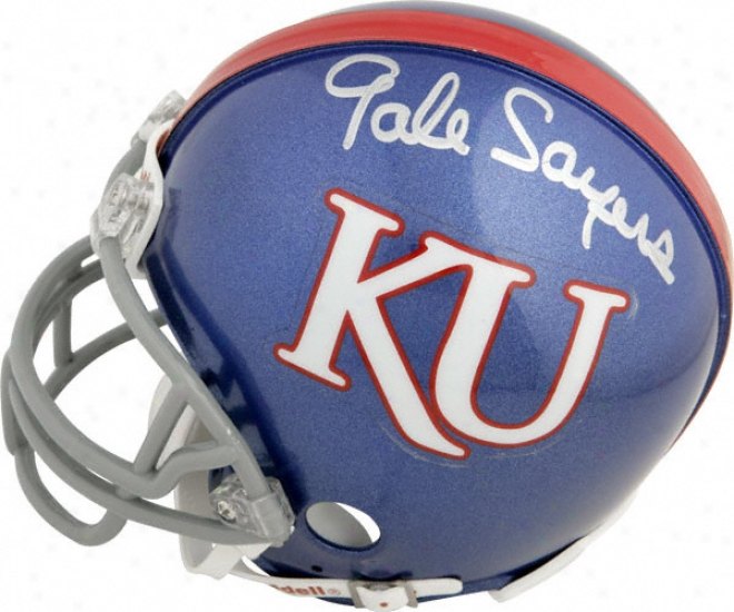 Wind Sayers Kansas Jayhawks Autographed Mini Helmet