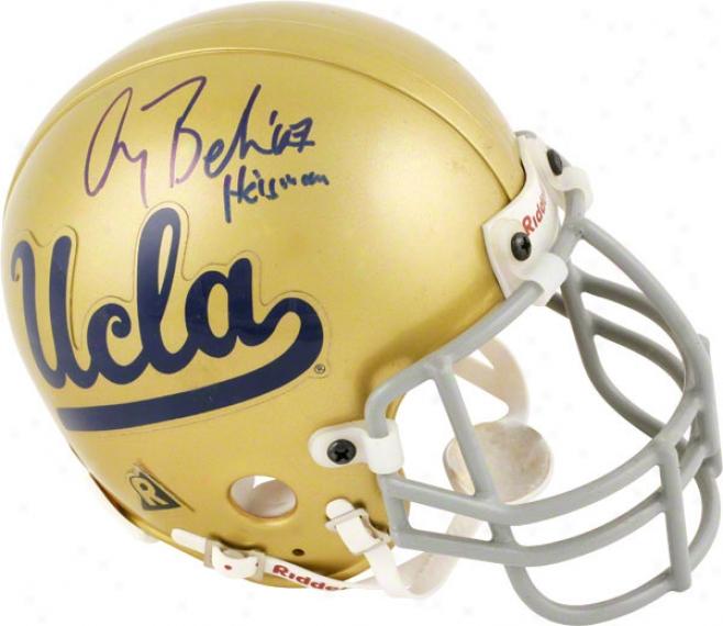 Gary Beban Ucla Bruins Autographed Mini Helmet With Heisman 67 Inscription
