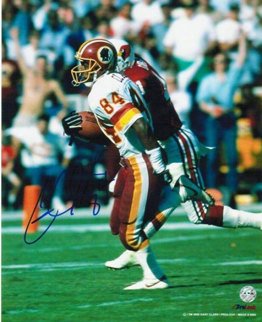 Gary Clark Autographed Washington Redskins 8x10 Photo