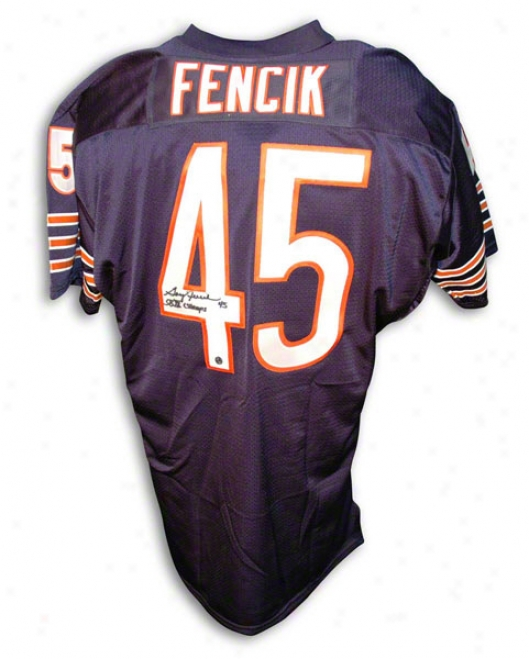 Gary Fencik Autographed Chicago Bears Navy Blue Throback Jersey Inscribed &quotsb Xx Champs&quot