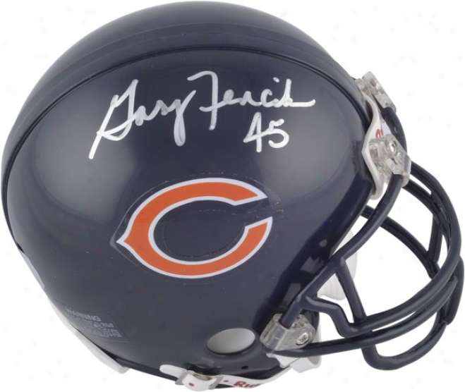 Gary Fencik Chicago Bears Autographed Mini Helmet