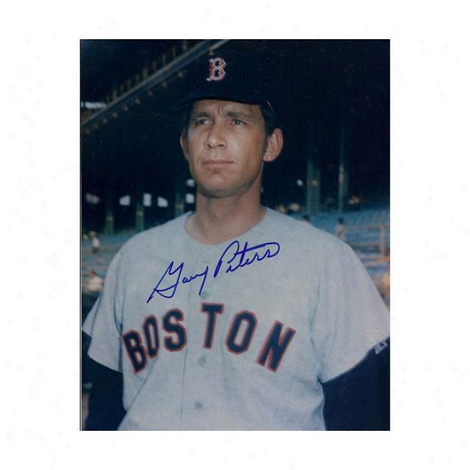 Gary Peters Autograhped Boston Red Sox 8x10 Photo