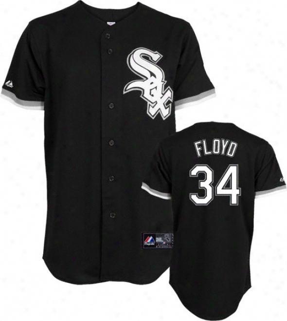 Gavin Floyd Jersey: Person of mature age Majestic Alternate Black Replica #34 Chicago White Sox Jersey