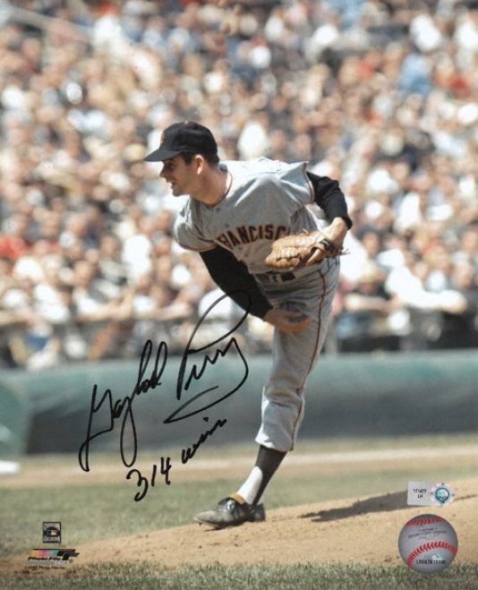 Gaylord Perry San Francisco Giants Autographed 8x10 Photograph With 314 Wins Inscription