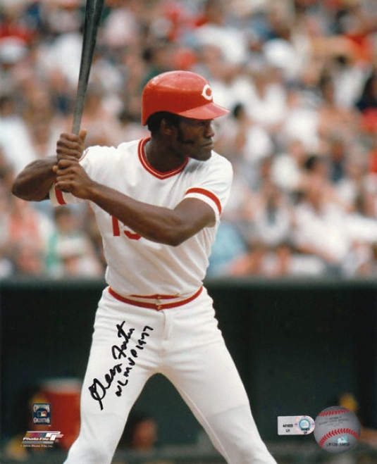 George Foster Cincinnati Reds Autographed 8x10 Photograph With Nl Mv p1977 Inscription