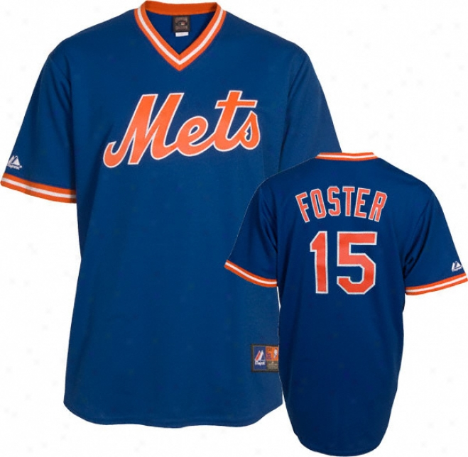 George Foster New York Mets Royal Cooperstown Replica Jersey