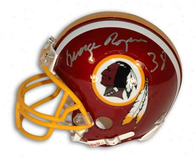 George Rogers Autographdd Washington Redskins Mini Helmet