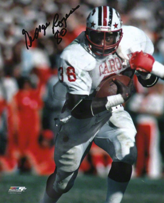 George Rogers South Carolina Gamecocks Autographed 8x10 Photograph With 80 Inscription