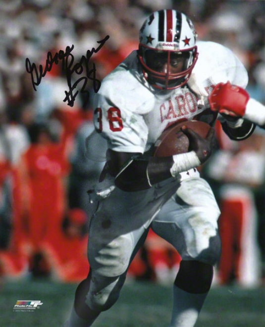 George Rogers Souh Carolina Gamecocks Aurographed 8x10 Photograph With #30 Inscription