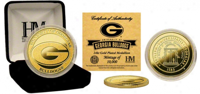 Georgia Bulldogs 24kt Gold Coin