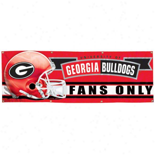 Georgia Bulldogs 2x6 Vinyl Banner