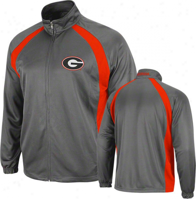 Georgia Bulldogs Charcoal Rival Full-zip Jacket
