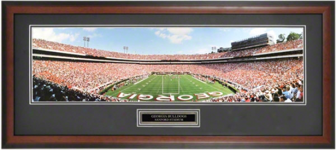 Georgia Bulldogs End Zone At Sanford Stadium Framed Unsigned Panoramic Photo