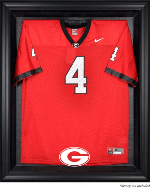 Georgia Bulldogs Frameed Logo Jersey Display Case