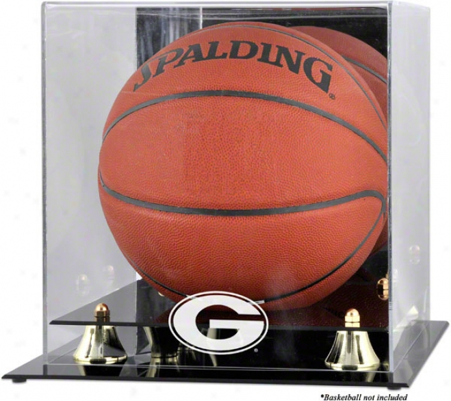 Georgia Bulldogs Golden Classic Logo Basketball Display Case