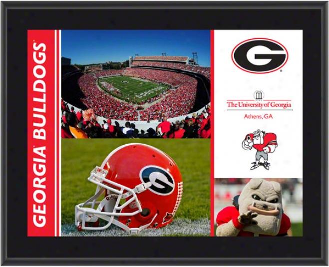 Georgia Bulldogs Plaque  Details: Sublimated, 10x13, Ncaa Plwque
