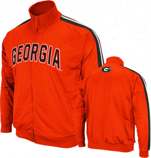 Georgia Bulldogs Red Pace Track Jacket