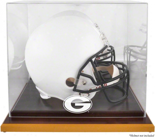 Georgia Bulldogs Woodbase Logo Helm Display Case