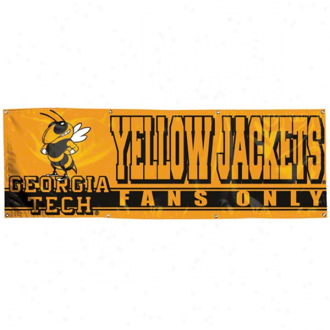 Georgia Tech Yellow Jackets 2x6 Vinyl Banner