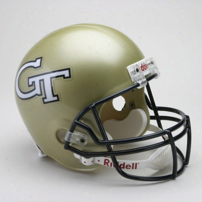 Georgia Tech Yellow Jackets Deluxe Replica Riddell Helmet