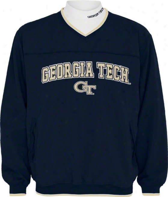 Georgia Tech Yellow Jackets Windshirt/long Sleeve Mockneckk Combo Pack