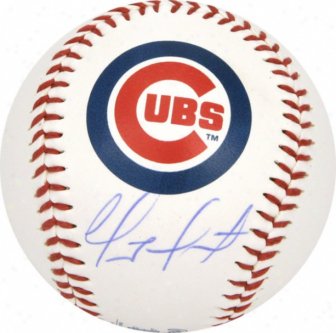 Geovany Soto Autographed Baseball  Details: Chicago Cubs Logo