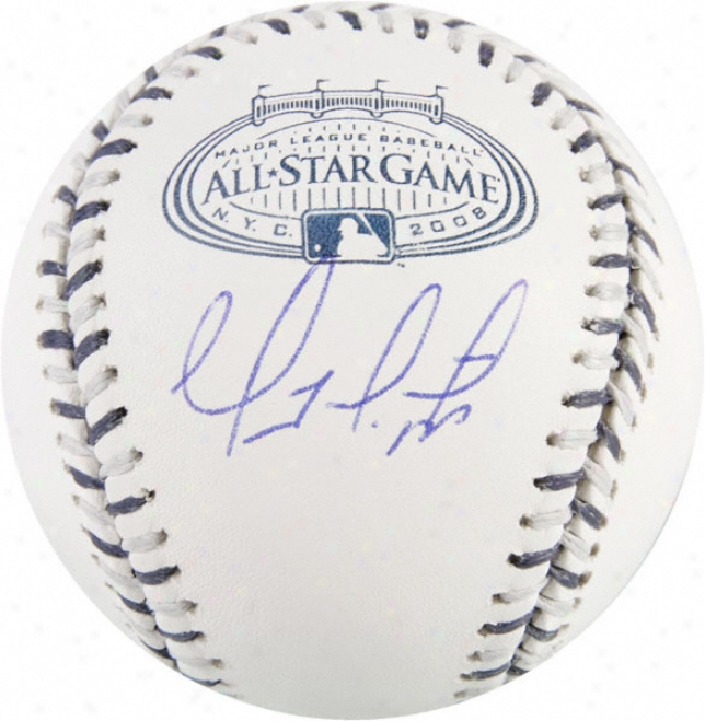 Geovany Soto Chicgo Cubs Autographed 2008 Yankees Stadium All-star Baseball