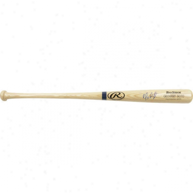 Geovany Soto Chicago Cubs Autographed Rawlings Wicked Big Stick Bat W/ Inscription &quotroy 08&quot