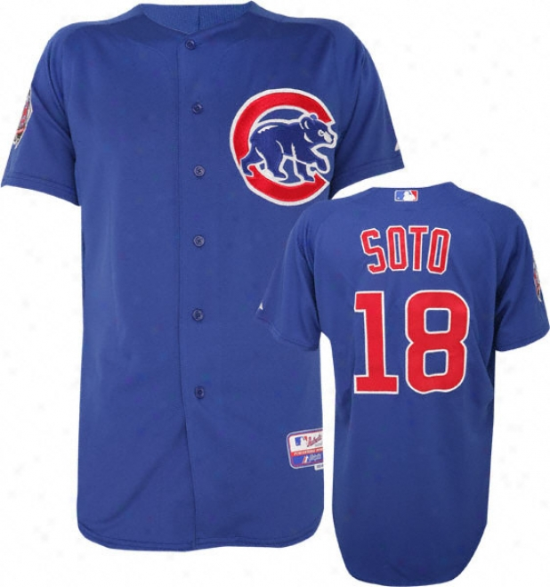 Geovany Soto Majesstic Alternate Authentic Onfield Cool Base Chicago Cubs Jersey