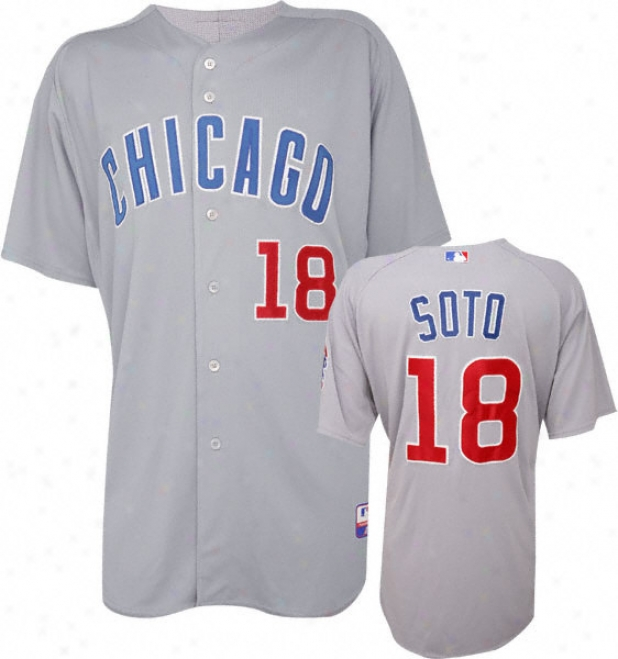 Geovany Soto Majestic Roadstead Authentic Onfield Coo lBase Chicago Cubs Jersey
