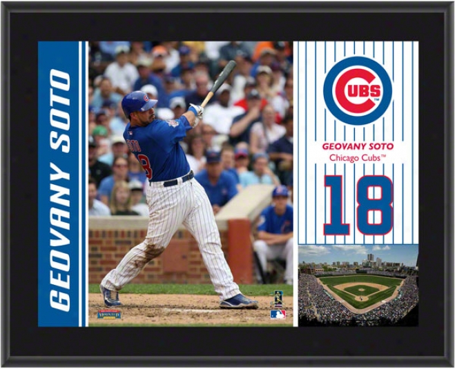 Geovany Soto Plaque  Details: Chicago Cubs, Sublimated, 10x13, Mlb Plaque