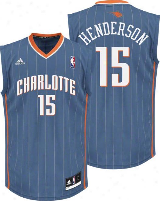 Gerald Henderson Jersey: Adidas Creole Blue Replica #15 Charlotte Bobcats Jersey