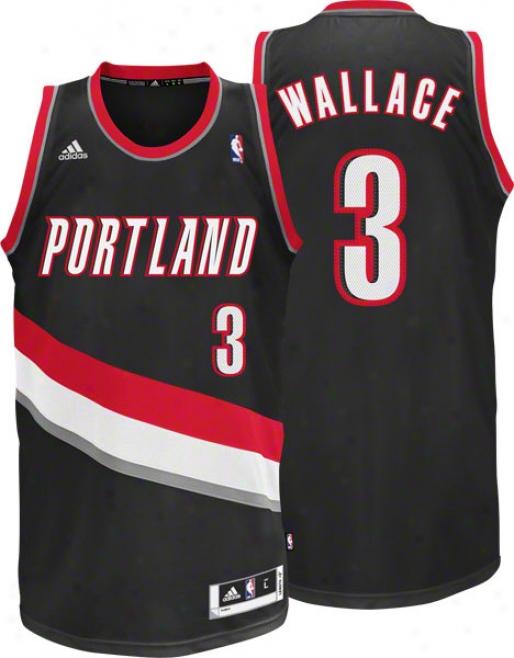 Gerald Wallace Jersey: Adidas Wicked Swingman #3 Portland Trail Blazers Jersey