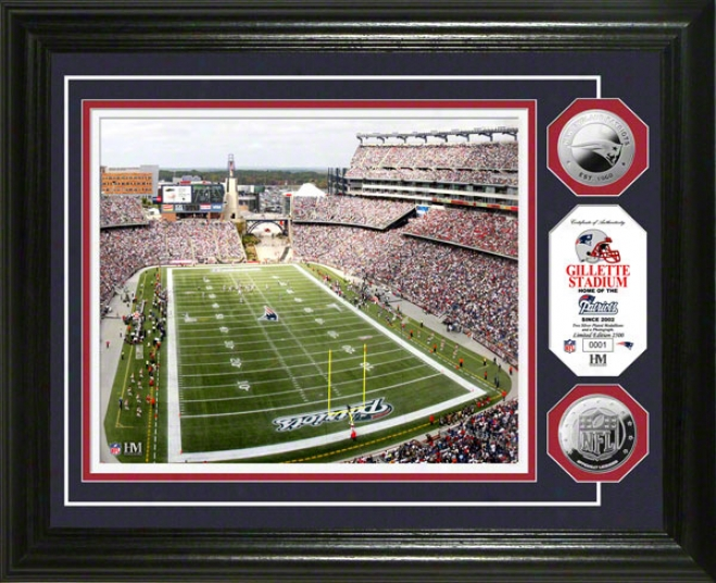Gillette Stadium Photo Mint: New Englahd Patriots Silver Coin Photo Mint