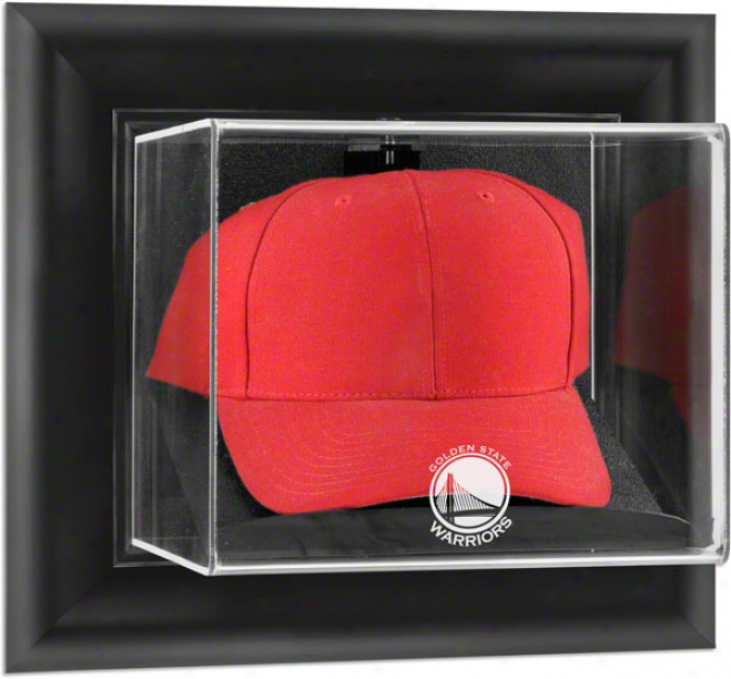 Golden National Warriprs Framed Wall Mounted Logo Cap Display Case