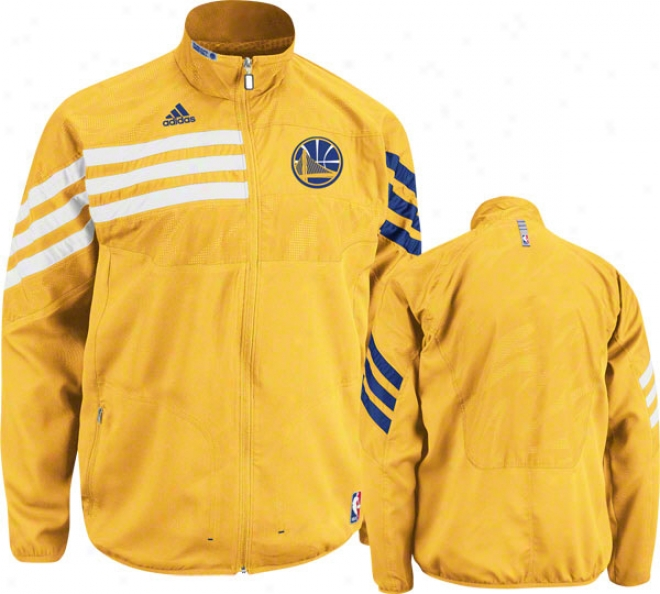 Golden State Warriors Gold 2011-2012 Western Conference On-court Warm-up Jacket