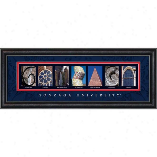 Gonzaga Bulldogs Letter Art