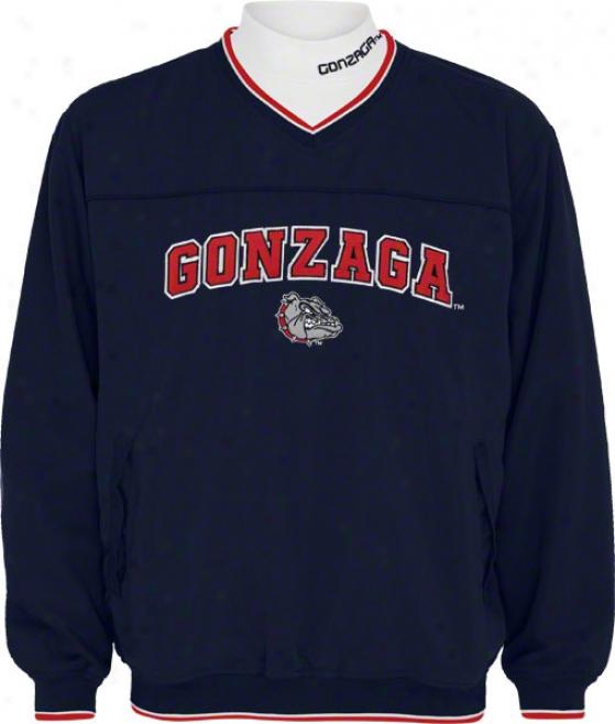 Gonzaga Bulldogs Windshirt/long Sleeve Mockneck Combo Pack