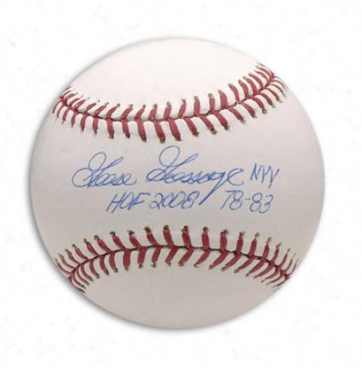 Goose Gossage Autographed Baseball  Details: Hall Of Fame 2008 78-83 Inscription