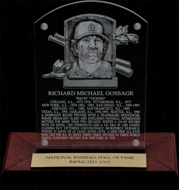 Goose Gossage Hof Plaque Etcjed Acrylic Desk Top Plaque