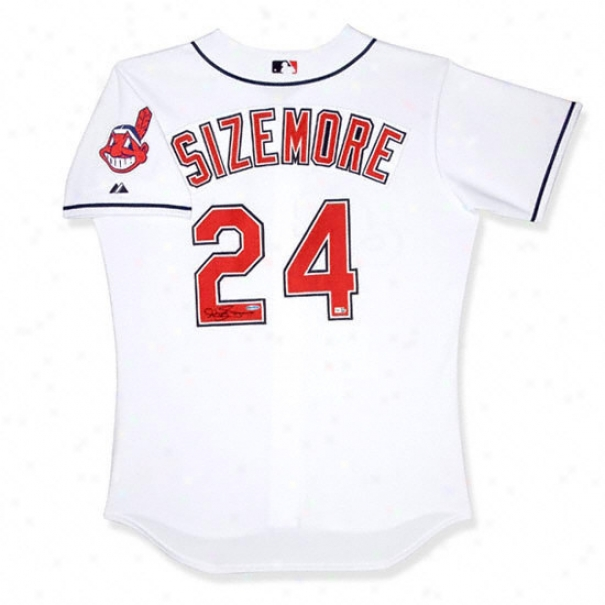 Grady Sizemore Cleveland Indians Autographed Home White Jersey