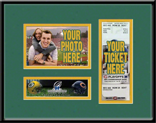 Green Bay Packers 2010 Nfc Championship Photo & Ticket Frame