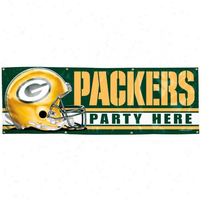 Green Bay Packers 2x6 Vinyl Banner